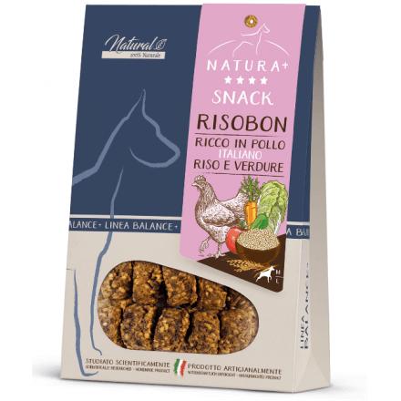 Risobon, snack monoproteico per cani, pollo e verdure 80g