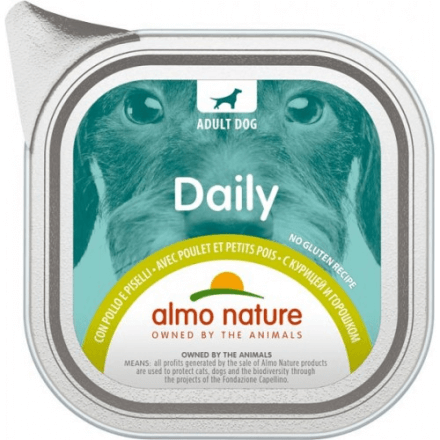 Daily Menu Dogs Pollo e piselli 100g