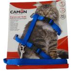 Parure pettorina e guinzaglio per gatti grandi BLU