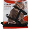 Parure pettorina e guinzaglio per gatti grandi NERO