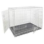 Box per cani zincato 2 porte 64X48X54
