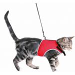 Pettorina morbida a maglietta per gatti 24-42cm ROSSO