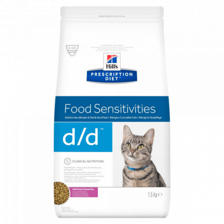 D/D - Allergy & Skin Care - Anatra e piselli gatto secco 1,5 kg