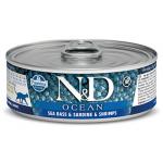 N&D Ocean, Spigola, Sardine eGambero umido gatto 80g