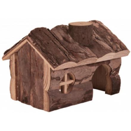 Casetta in legno HENDRIX per criceti e piccoli roditori cm 20x13x13