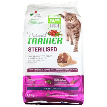 Natural Gatto Adult Sterilised Prosciutto crudo 1,5 kg PROMO