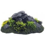 Roccia con erba decorazione acquario M cm 23x15h9