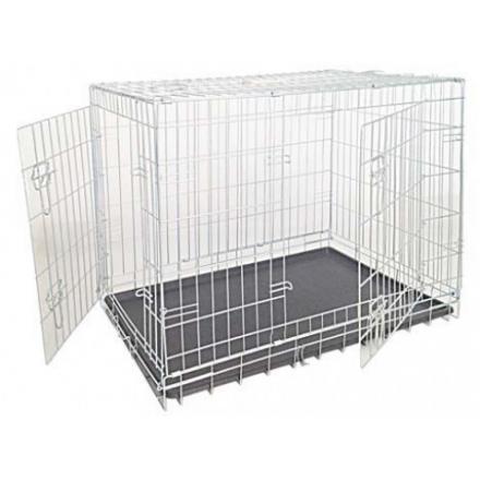 Box per cani zincato 2 porte 78x55x62